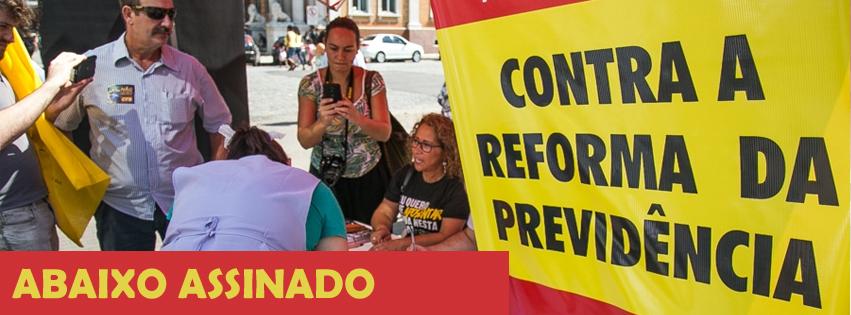 Abaixo-assinado contra a reforma da Previdência