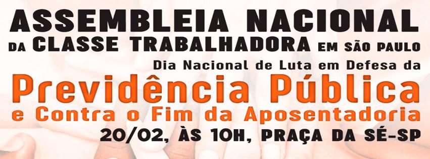 Assembleia Nacional da Classe Trabalhadora em São Paulo