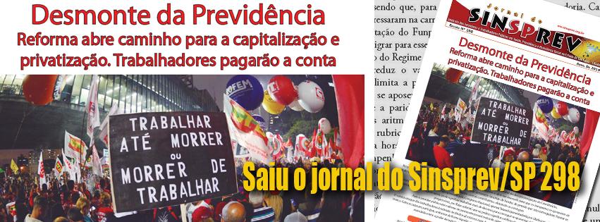 Jornal do Sinsprev/SP Edição nº 298