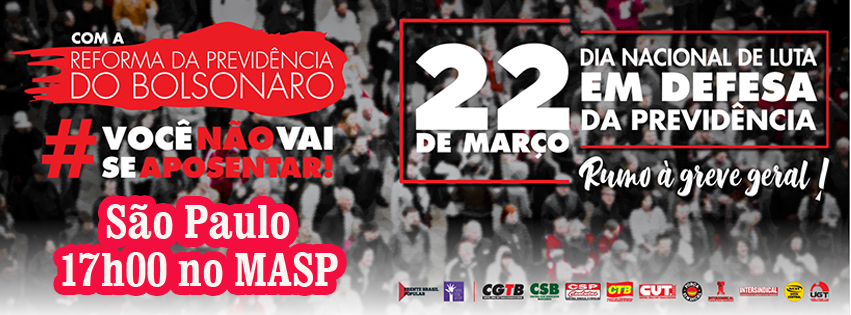 Dia Nacional de Luta em Defesa da Previdência