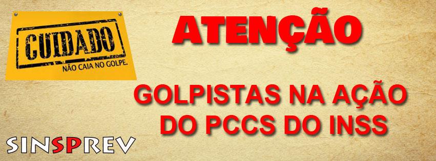 Golpistas na ação do PCCS do INSS